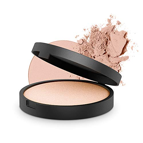 INIKA Baked Mineral Illuminisor, All Natural Make-up Highlighter Powder, Sheer Coverage, Silky Finish, Vegan, Hypoallergenic, Dermatologist Tested, Halal, 8g (0.28 oz) Starlight