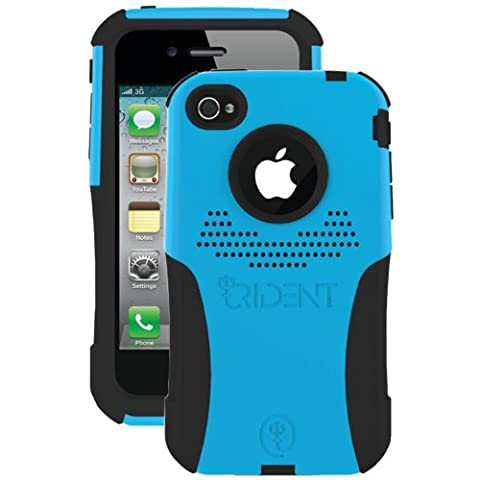 Trident Case Aegis Case for Apple iPhone 4 - AT&T/Verizon - Blue - 1 Pack - Retail Packaging - Blue (Iphone4 Tough Cases)