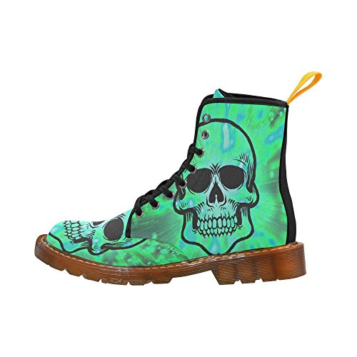 LEINTEREST color bursting skull Martin Boots Fashion Shoes For Men 0iCdtEd