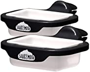 Saucemoto Dip Clip | An in-car sauce holder for ketchup and dipping sauces. As seen on Shark Tank (2 Pack, Bla