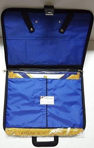 Zest4Canada Masonic Regalia Special Feature Apron /& Chain Collar Soft Handle Case Square G /& Compass