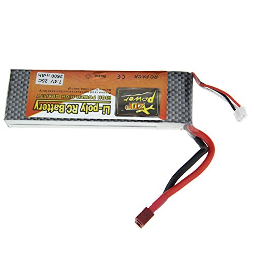 Replacement 7.4V 25C 2600mAh Li-Poly Battery Pack for R/C Helicopter - 25c Li Poly Battery