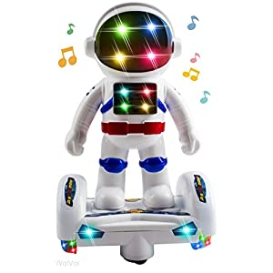 WolVol Space Astronaut Robot Toy with Stunning 3D Lights and Music, Bump & Go Action Toy for Kids