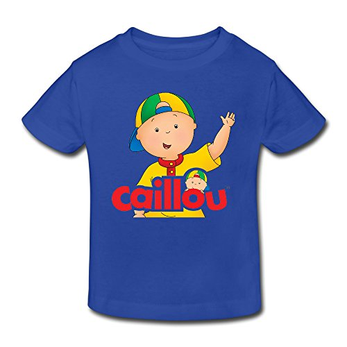 Price comparison product image Toddler's 100% Cotton Caillou Cute T-Shirt RoyalBlue US Size 4 Toddler