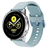 CapsA Watch Band Compatible Samsung Galaxy Watch Active Replacement Sports Soft Silicone Wristband Strap for Women Men (Blue)