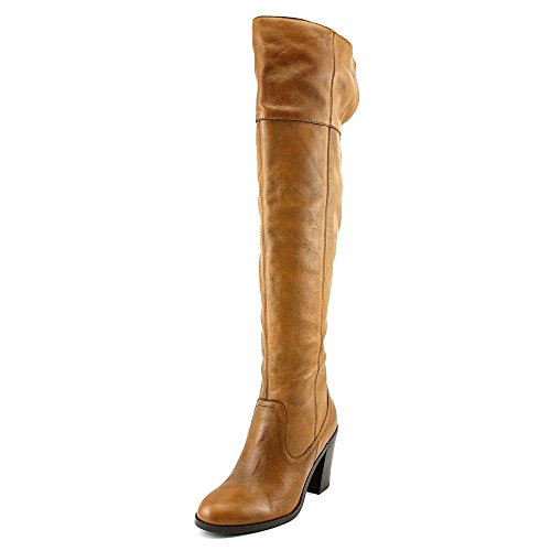 Brown Leather High Heel Boot (Corso Como Women's Harrison Riding Boot, Tobacco Tumbled Leather, 7 M)