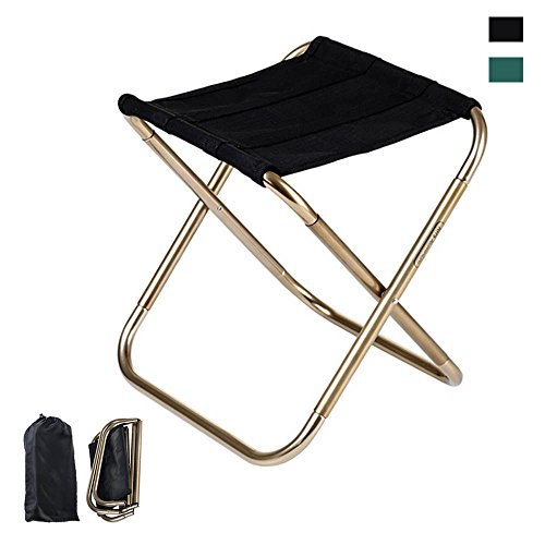 Folding Chair,iDeep 420D Nylon 7075 Aluminum Alloy Portable Folding Stool Camping Stool Fish Chair Camping Chair with Carry Bag Max load 165lbs for Travel Camp Fishing Picnic 9.4x5.5in (Picnic Stool)