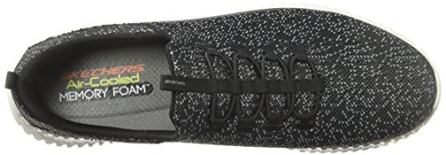 Skechers Mens Elite Flex Muzzin Bianco-nero