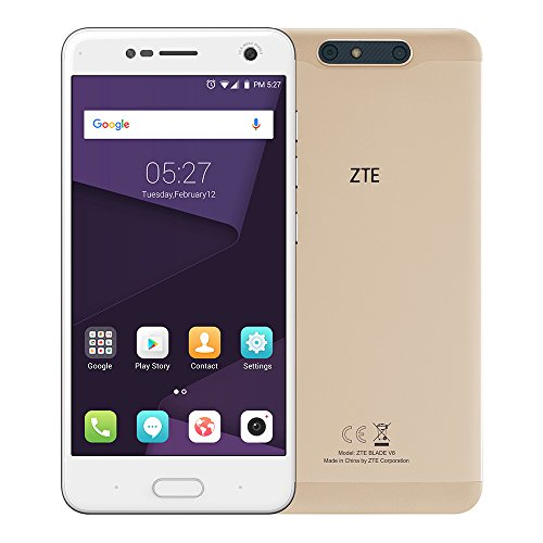 ZTE Blade V8 3GB / 32GB 5.2-inches Dual SIM Factory Unlocked - Taiwan Stock No Warranty (Champagne Gold)