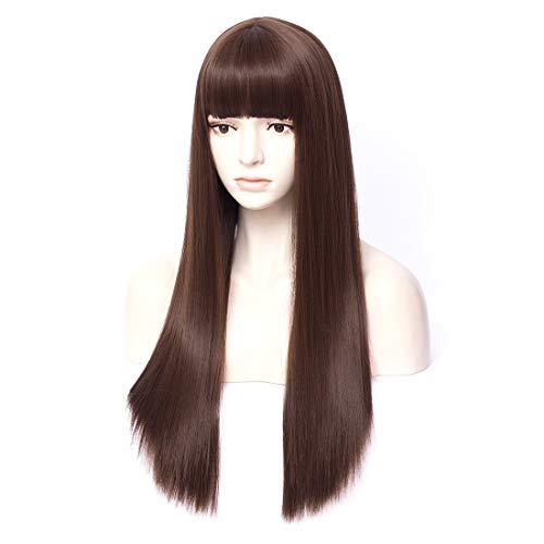 netgo Short Auburn Curly Hair Wigs for Women Heat Resistant Fiber 14 inch Wavy Bob Wigs for Daily Cosplay Party Nightclub Costume (Auburn)