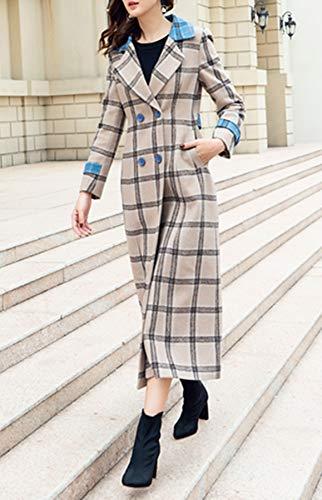 Mode Plaer Manteau Coupe Femmes Aux Cachemire Longue vent qq8ROnwv