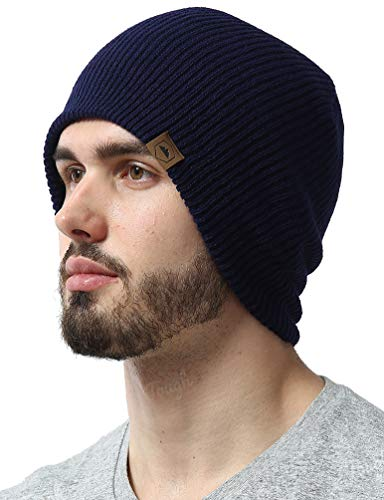 Tough Headwear Daily Knit Ribbed Beanie Warm, Stretchy & Soft Beanie Hats for Men & Women - Year Round Comfort - Serious Beanies for Serious - Knit Cable Coal Beanie