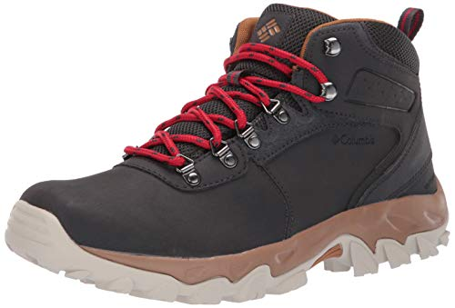 Columbia Men's Newton Ridge Plus II Waterproof Hiking Boot Shark, Mountain red 10.5 Regular US