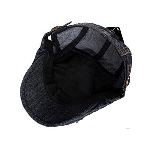 139b25efb Zhhlaixing Unisex Adjustable Spring Summer Outdoor Sun Hat IVY Cap Cabbie  Flat Cap Denim Berets CQ0502  Amazon.co.uk  Clothing