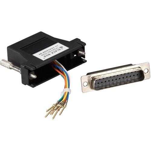 Adapter Db25 Male - BLACK BOX FA4525M-BK DB25 Modular Adapter Kits (Unassembled), Male to RJ-45, 8-Wire, Black