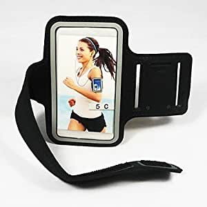 Topforcity Universal Sport Jogging Workout Armband Protector Case Cover Pouch For Various Samsung S5 Galaxy i9600(Black)