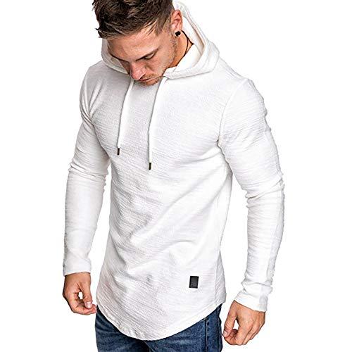 Mens Casual Long Sleeve Hoodies Solid Colors Sweatshirt M-3XL