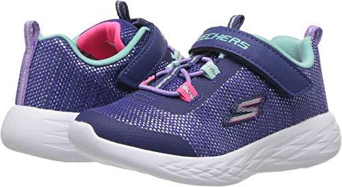 Skechers Kids Girls' GO Run 600-SPARKLE Runner Sneaker, NVMT, 10 Medium US Toddler
