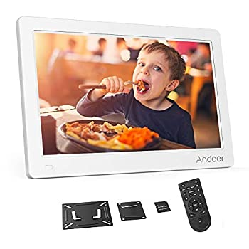 Image of Andoer 15.6Inch Digital Photo Frame, Digital Picture Frame FHD IPS Display Support Calendar/Clock/MP3/Photos/1080P Video Player with 8GB Memory Card and Remote Control