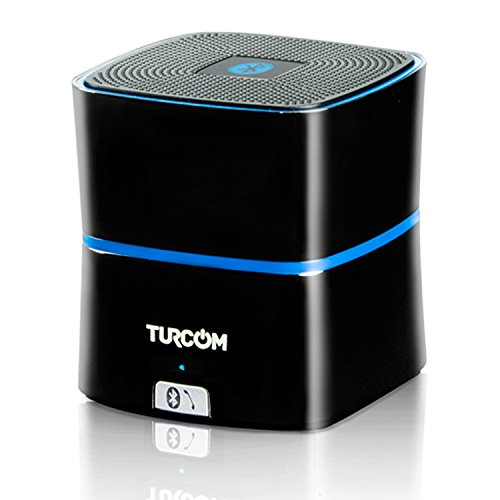 Turcom TS-450 5 Watt Power Enhanced Bass Portable Wireless Bluetooth Speaker, with Latest Bluetooth 4.0 Technology, 8-12 Hour Playtime, Rechargeable Lithium-Ion Battery, Built-in Digital Microphone, Premium Zinc Alloy Shell Speaker, Titanium Gray