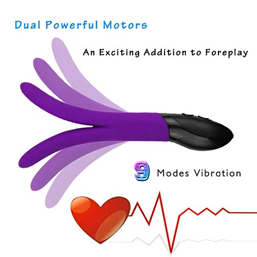 Japan Rabbit G Spot Multispeed Funny Toy Silicone Dual Motors s Women Products Couple,Purple No Box