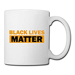 Christina Black Lives Matter Logo Ceramic Coffee Mug Tea Cup White