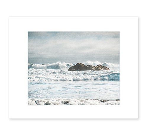 Seascape Photography, Coastal Wall Art, Nautical Ocean Waves Decor, Big Sur Picture, 8x10 Matted Photographic Print (fits 11x14 frame), Surf and Rocks'