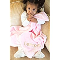 Pink Plush Personalized Baby Blanket
