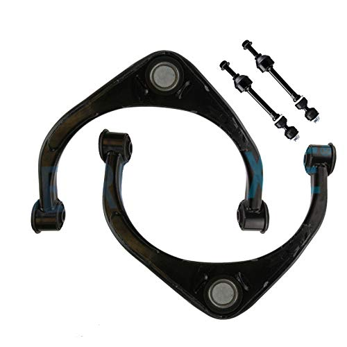 Detroit Axle - 4PC Front Upper Control Arms w/Ball Joints and Front Sway Bars for 2009 2010 2011 2012 2013 2014 2015 2016 2017 Dodge Ram 1500 4WD 4x4 Only