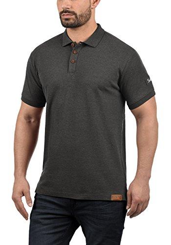 solid Liso Dark 8288 Grey Hombre Para Melange Polo rr875qH