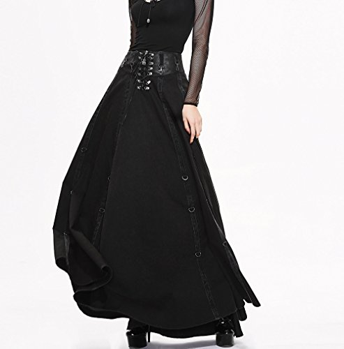 Devil Mode Sommerrock Punk Langer Fashion Sizes Gothic Schlank Damen Rock Spitzenkleid 7 Kleid wrwqHUY