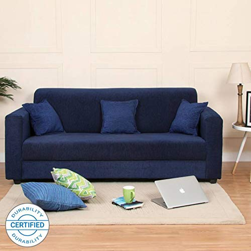 Westido Homes Brisbane Fabric 3 Seater Sofa  Finish Color   Blue
