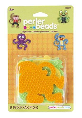 Perler Beads - 4 assorted pegbaords (frog/monkey/octopus/dog) (PRL22647) by -