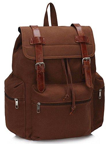 ANNA GRACE - Bolso mochila  de piel sintética para mujer Design 1- Coffee