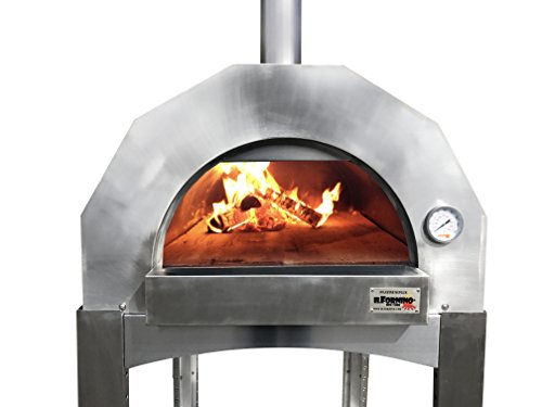 ilFornino Platinum Plus Wood Fired Pizza Oven – Adjustable Height- One Flat Cooking Surface