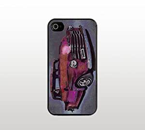 1948 Chevy Truck Snap-On Case for Apple iPhone 4 4s - Hard Plastic - Black - Cool Custom Cover - Car Design