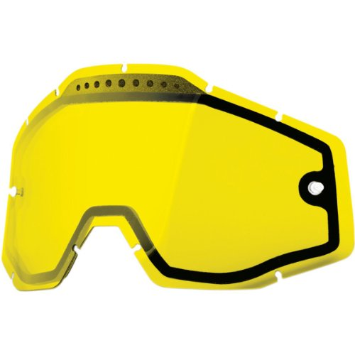 100% Dual Vented Lens for Racecraft/Accuri Goggles - Yellow - 004 100