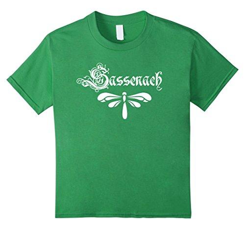 Kids Sassenach Dragonfly Outlander English Scottish T-Shirt 10 Grass