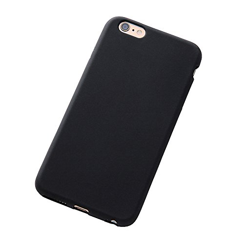 Silky Type Silicone Jacket for iPhone 6 Plus (Black)