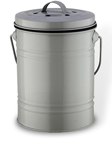 Das Haus Kitchen Counter Top Compost Bin with Removable Pail and Odor Blocking Charcoal Filter, 3/4 Gallon, Gray (Compost Bins Kitchen compare prices)