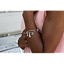 White Ribbon Awareness Alex Inspired Charm Bracelet:Swarovski Crystals for Lung Cancer, Emphysema, Osteoporosis, Lung Disease, Bone Disease, MHE