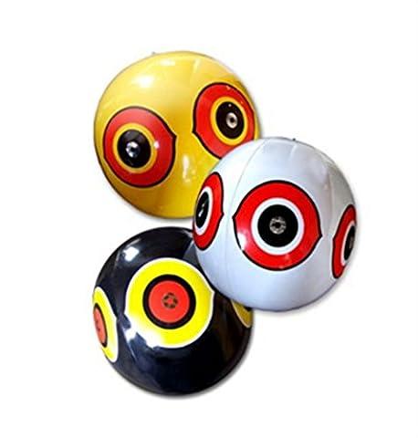 Seicosy (TM) Scare Eye Bird Balloon, Pegion & Sparrow Deterrnet, Pack of 3(Yellow+Black+White)