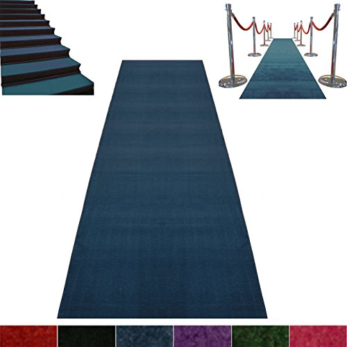 Blue Event Carpet Luxurious Quality Aisle Runner 3ft wide x 25ft long by Better Supplies