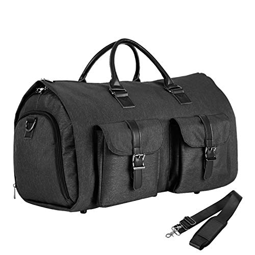 Convertible Travel Garment Bag,Carry on Garment Duffel Bag for Men Women - 2 in 1 Hanging Suitcase Suit Business Travel Bag