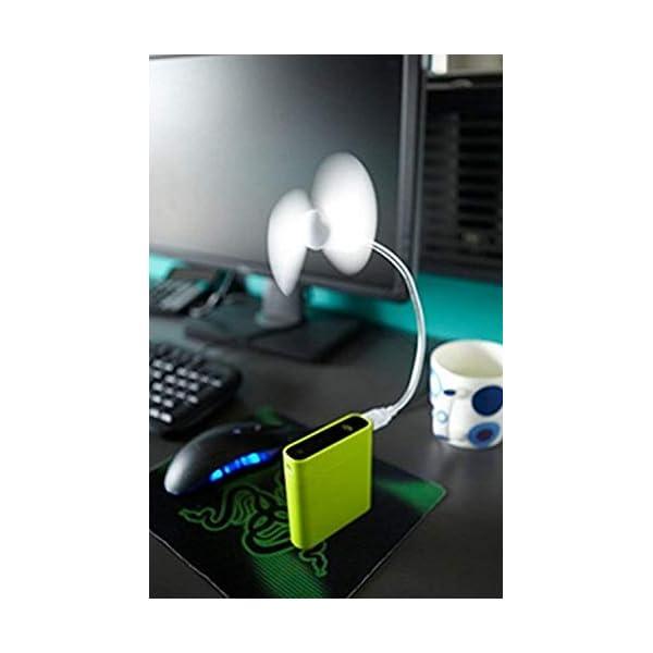 Beeria, mini ventilatore USB portatile pieghevole per computer portatile, netbook, tablet, ventola flessibile in metallo… 6 spesavip
