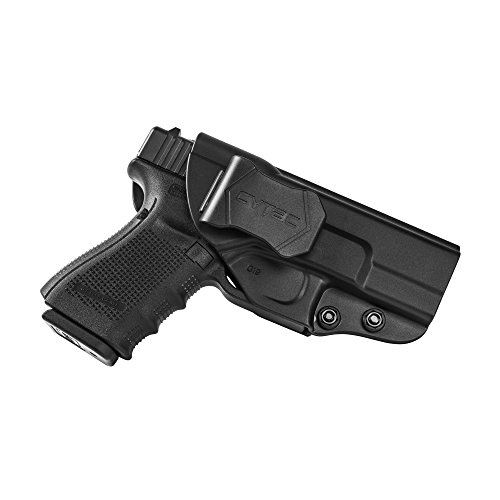 Wear Paddle Holster (New Launch Glock IWB Adjustable Paddle Holster, Right Hand, for Glock 19, 23,32 Gen 1 2 3 4 , Inside Waistband Tactical Pistol Holster, Best for CCW Concealed Carry, Police, Law Enforcement)