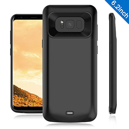 Galaxy S8 Plus Battery Case,TQTHL 5500mAh Ultra Slim Portable Charger Type C Extended Battery Juice Bank Rechargeable Power Charging Case for Samsung Galaxy S8+