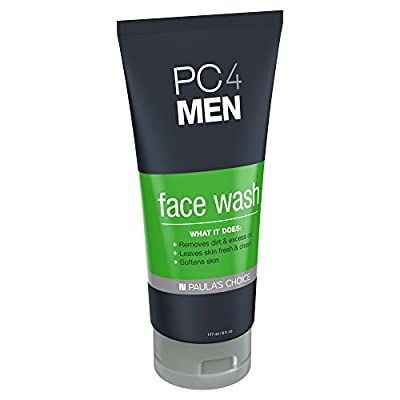 Paula's Choice PC4MEN Face Wash with Aloe for Men Fragrance Free Facial Cleanser, 6 oz (1 Bottle) for Normal Dry Oily Combination and Sensitive Skin Types, Use On Face and Neck by Paula's Choice