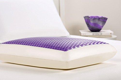 Comfort Revolution Hydraluxe Bubble Gel Bed Pillow, Purple