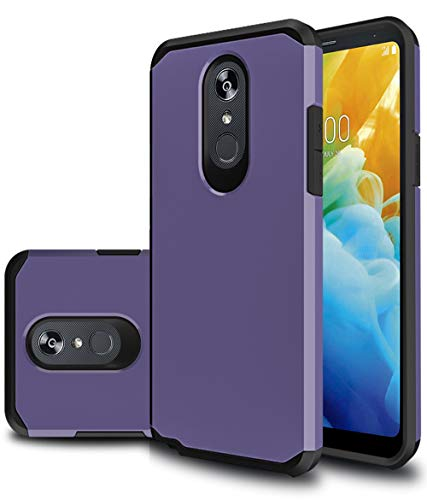 LG Stylo 5 Case, UCC Heavy Duty [Dual Layer] Hybrid Shock Proof Protective Rugged Bumper with Anti-Slip Phone Protective Cover Case for LG Stylo 5 (Purple)